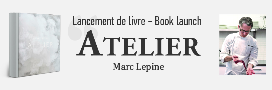 Photo of Marc Lepine and his book Atelier