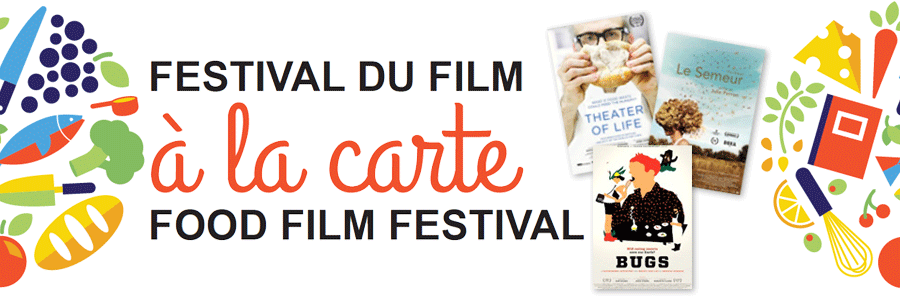à la carte logo, with three images of the three films featured