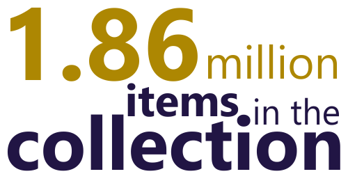 1.86 million items in the collection