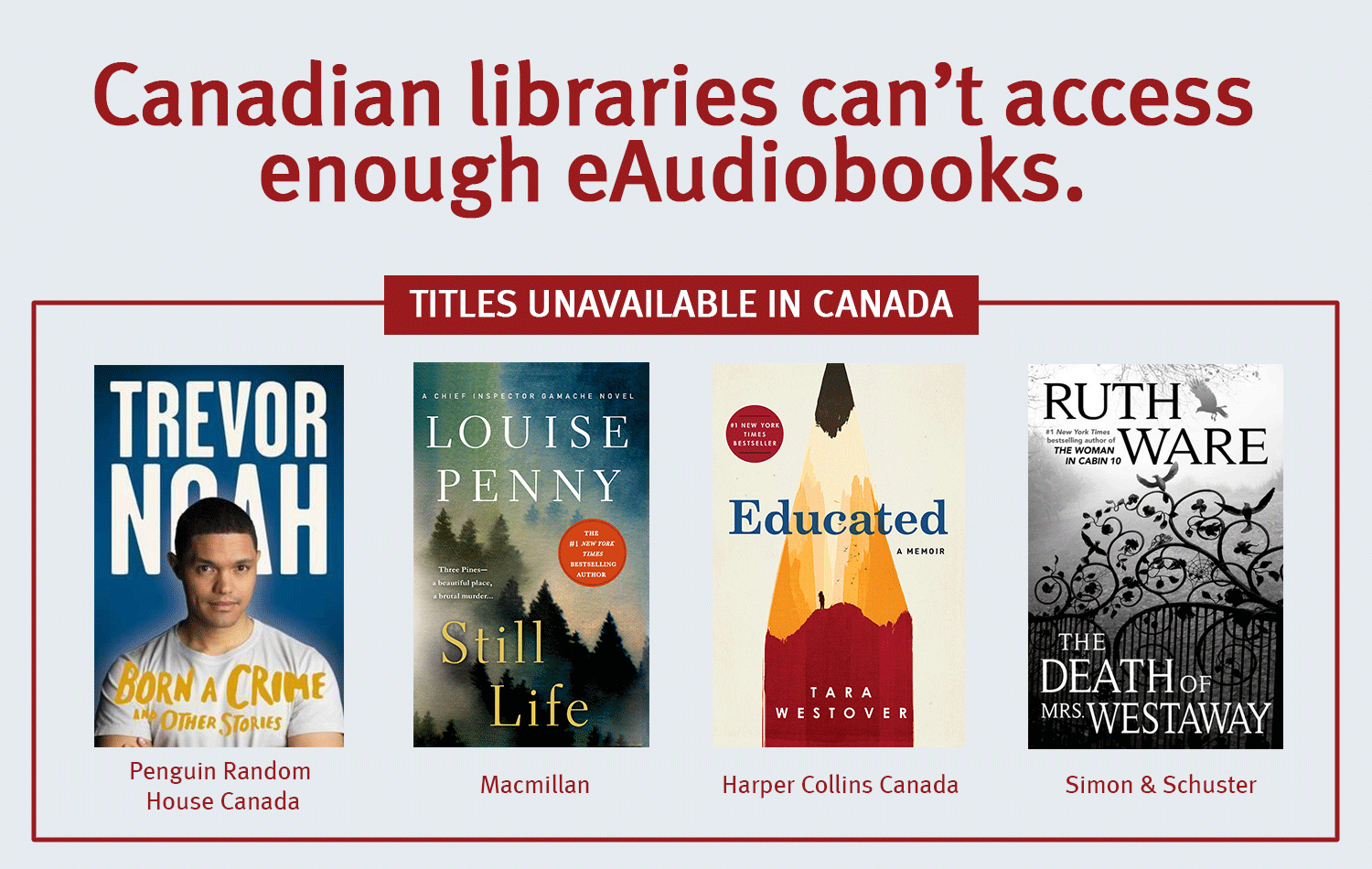 eContent Advocacy - Image - Canadian libraries can't access enough eAudiobooks
