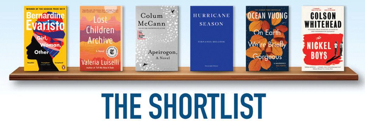 DUBLIN Literary Award logo and book covers