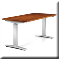 Image of height-adjustable table