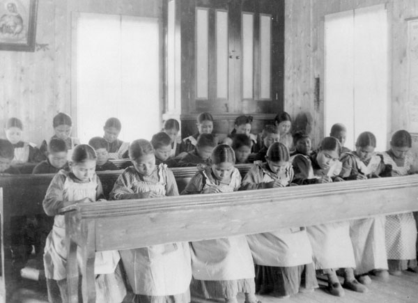 Historical Image: Children at School Desks