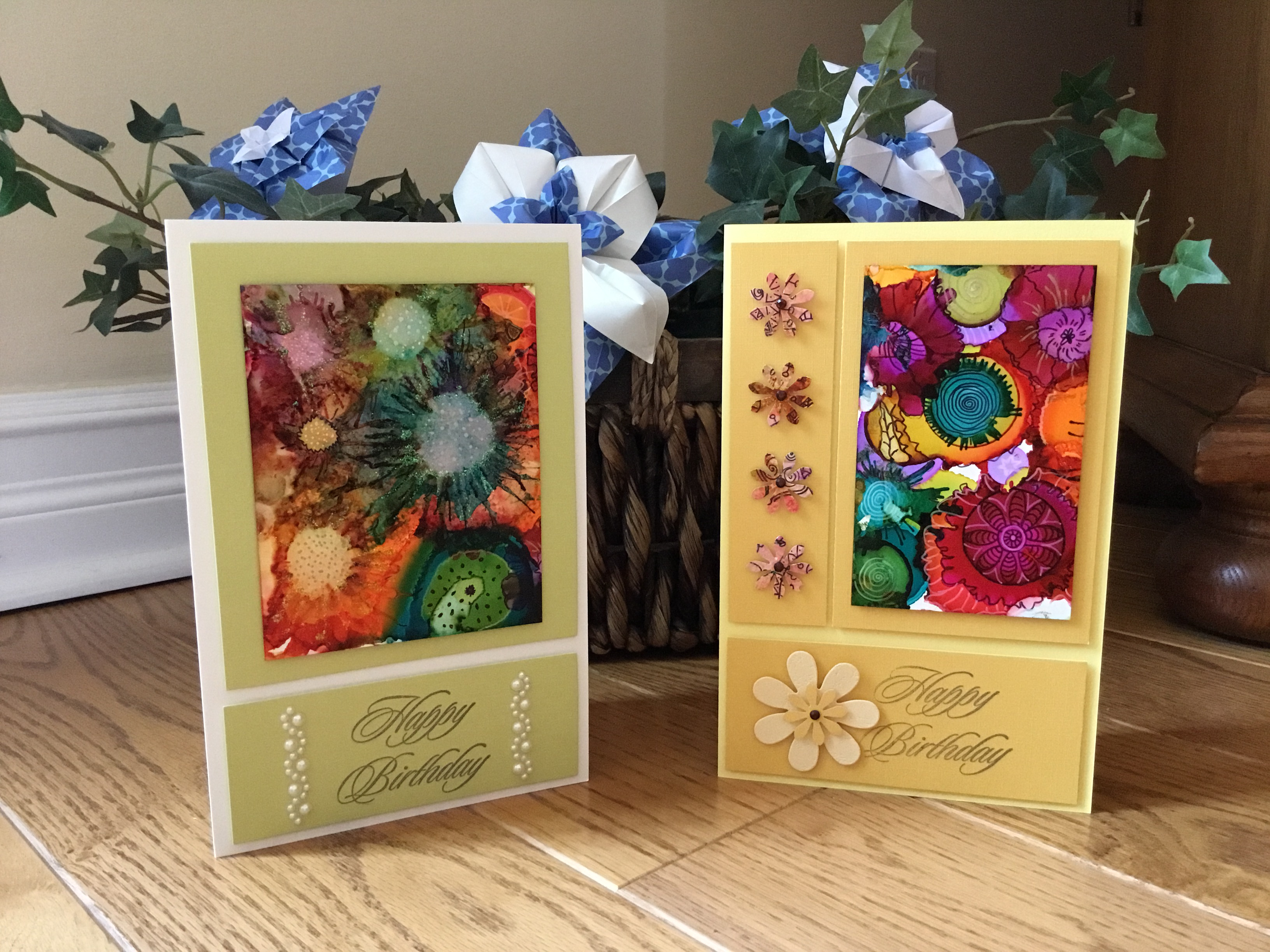 Alcohol Inks and Zentangle Art