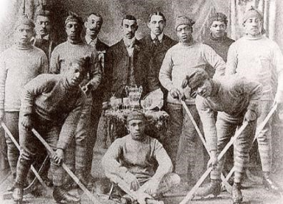 photo of Colored Hockey League players
