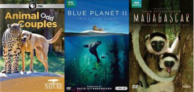 3 images of animal documentaries in the blog list