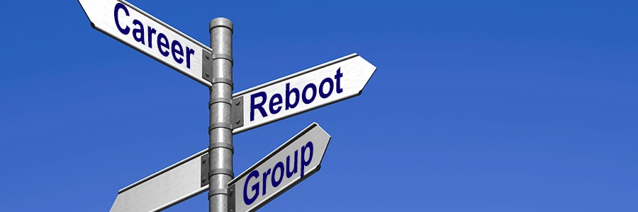 signpost saying Career Reboot Group