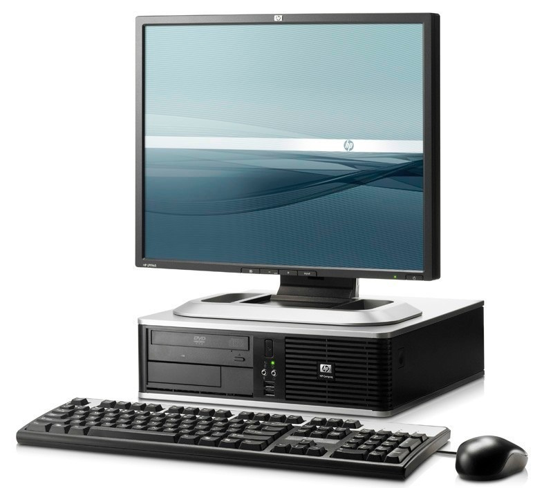 Desktop PC with monttor, keyboard and mouse on a table