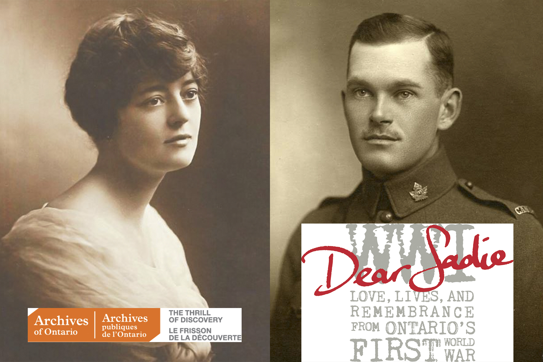 photo of a soldier and a young lady