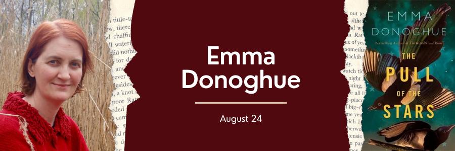 Web Banner for Emma Donoghue