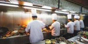 Cooks in restaurant