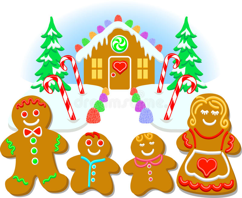 Picture of gingerbread house and cookies