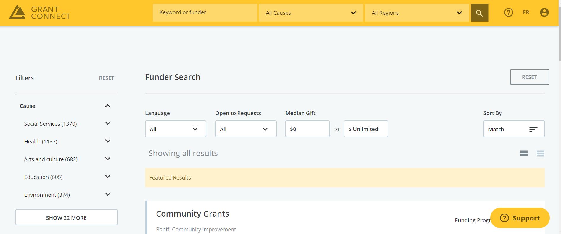 Grant Connect Screenshot