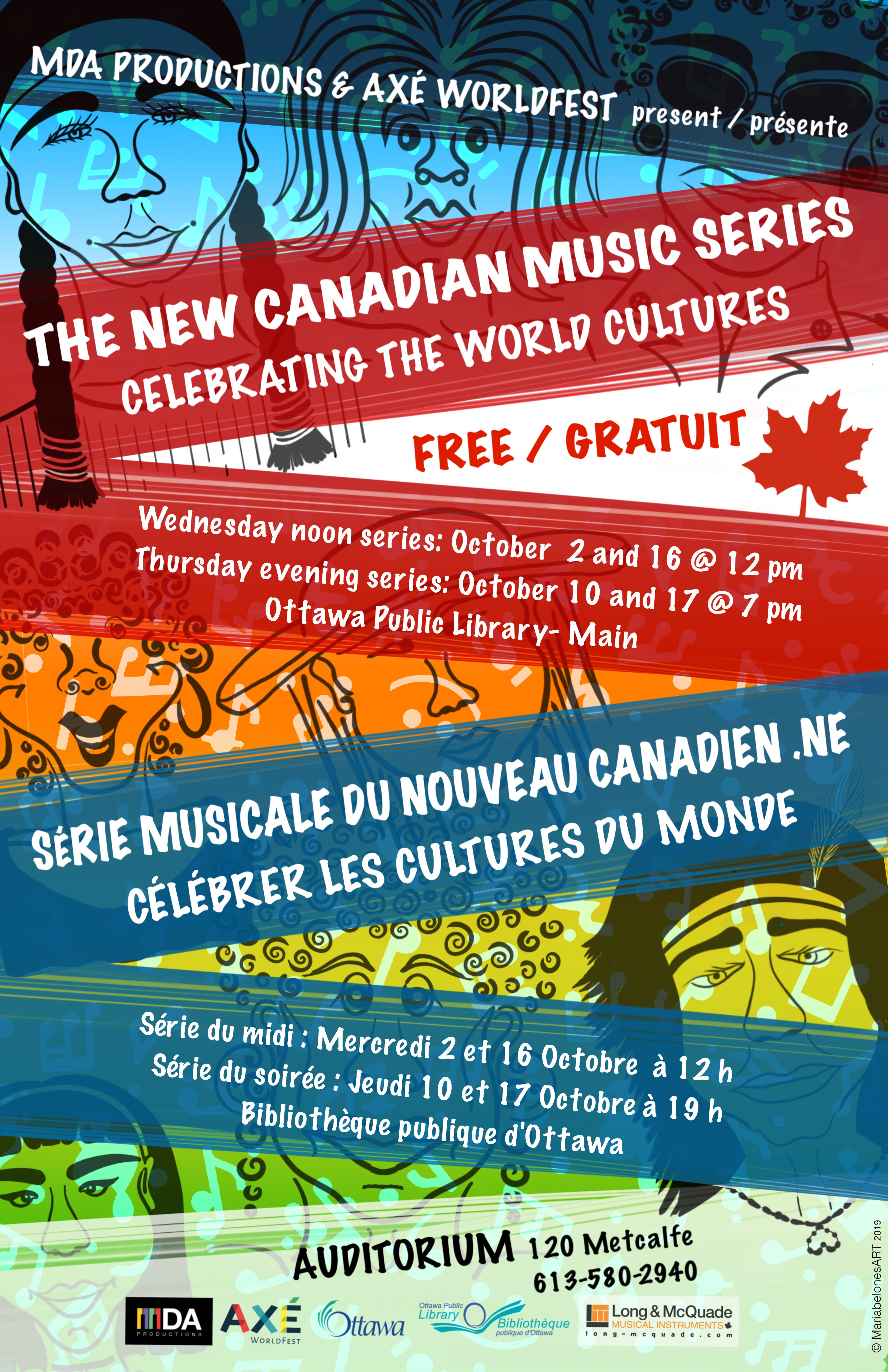 Poster for the New Canadian Music Series