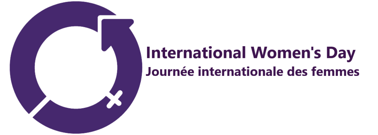 This image shows the International Women's Day logo.