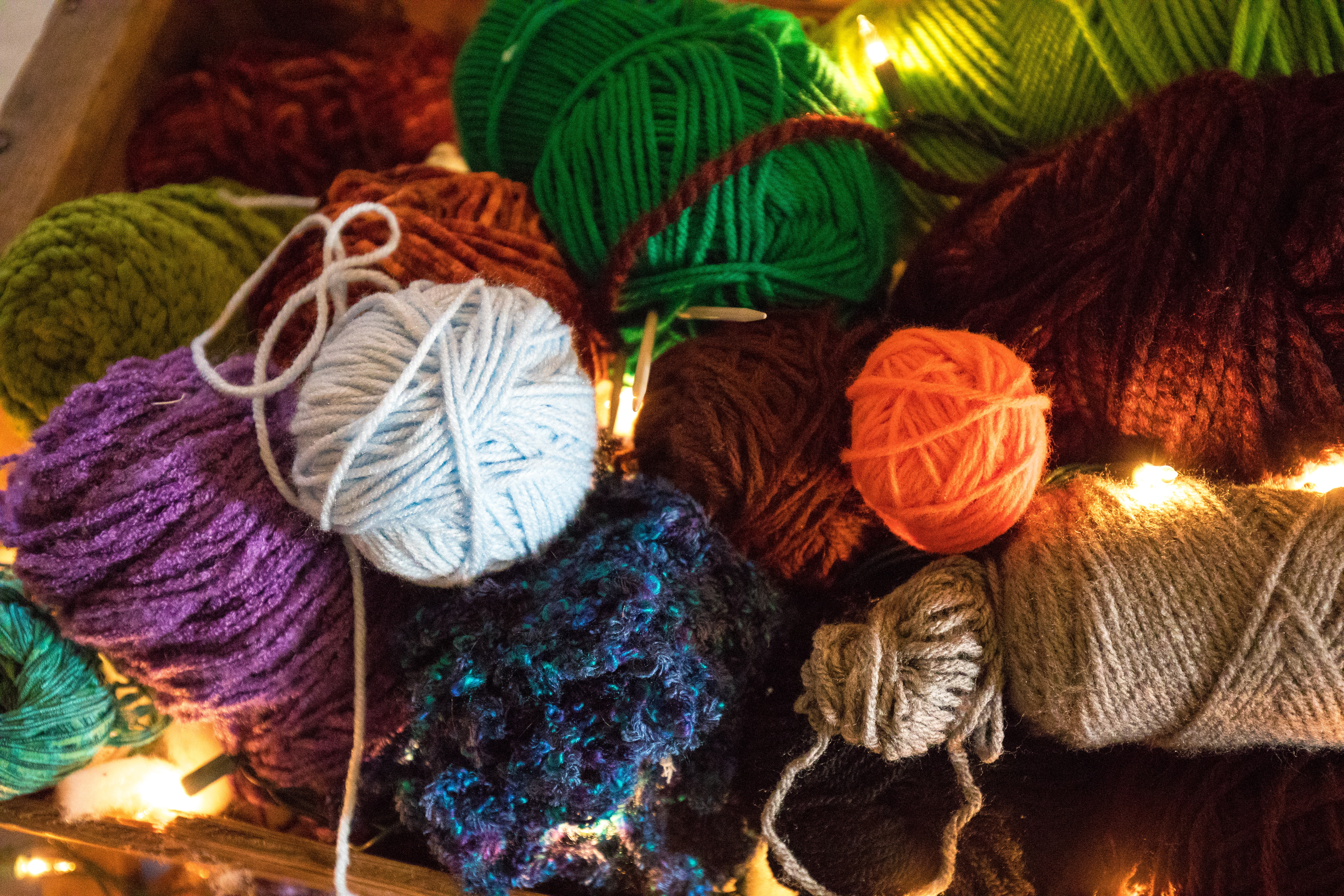 Picture of various yarn in different colours