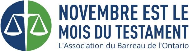 Novembre est le mois du testament, logo de l'ABO