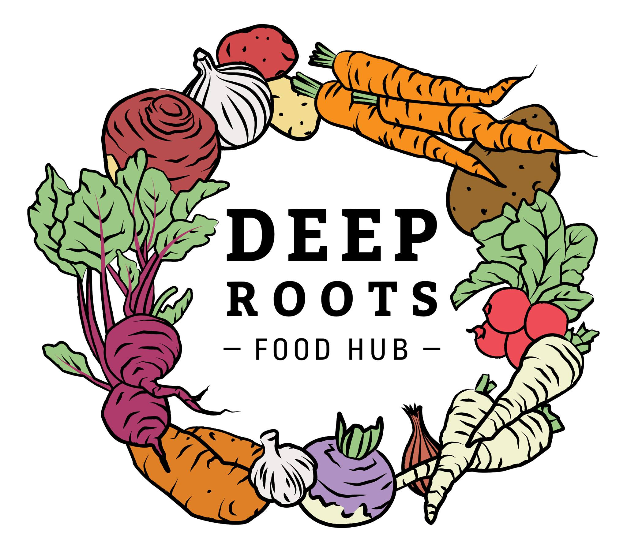 Logo for Deep Roots Food Hub