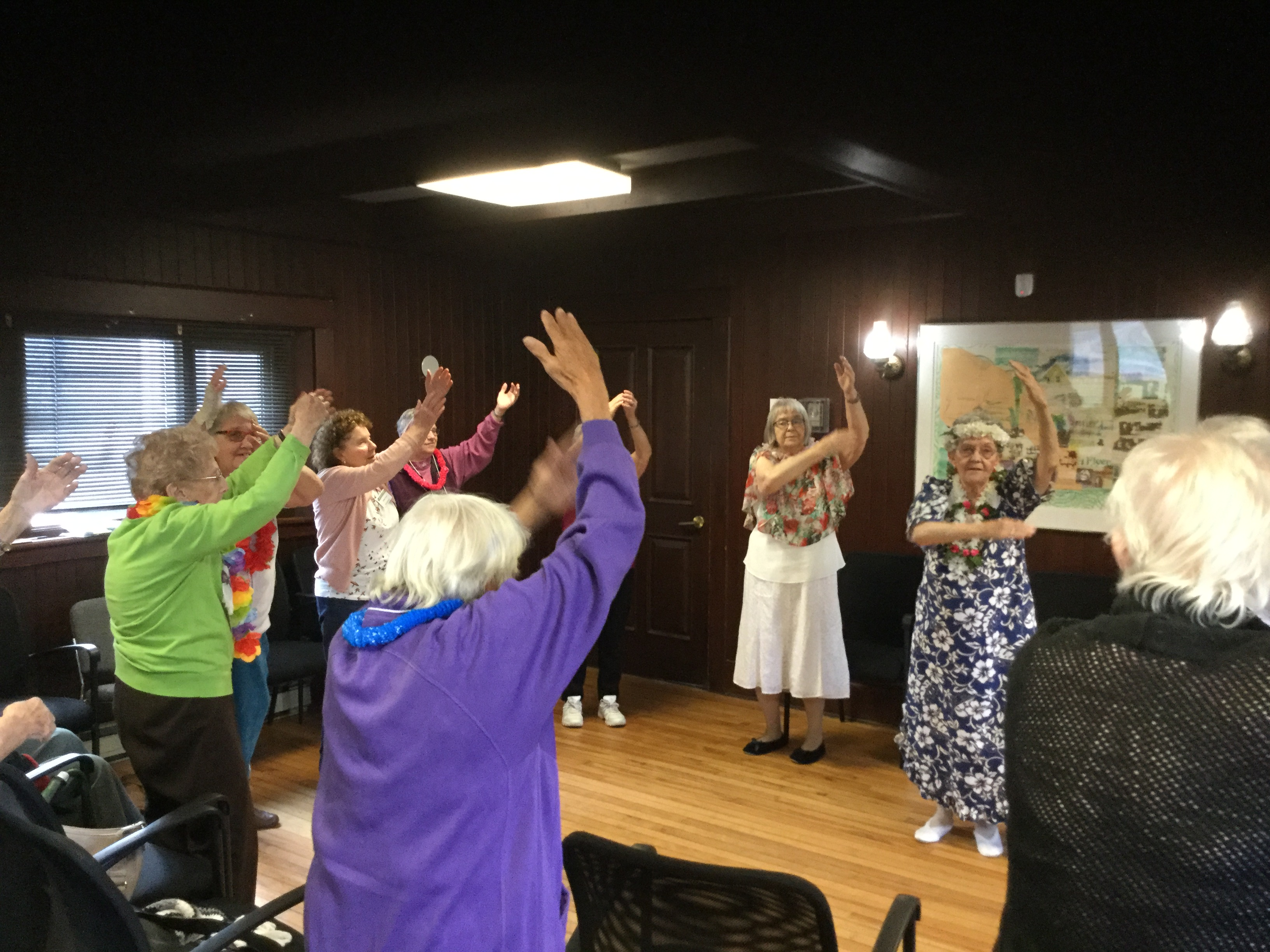 Photo of seniors doing exercise