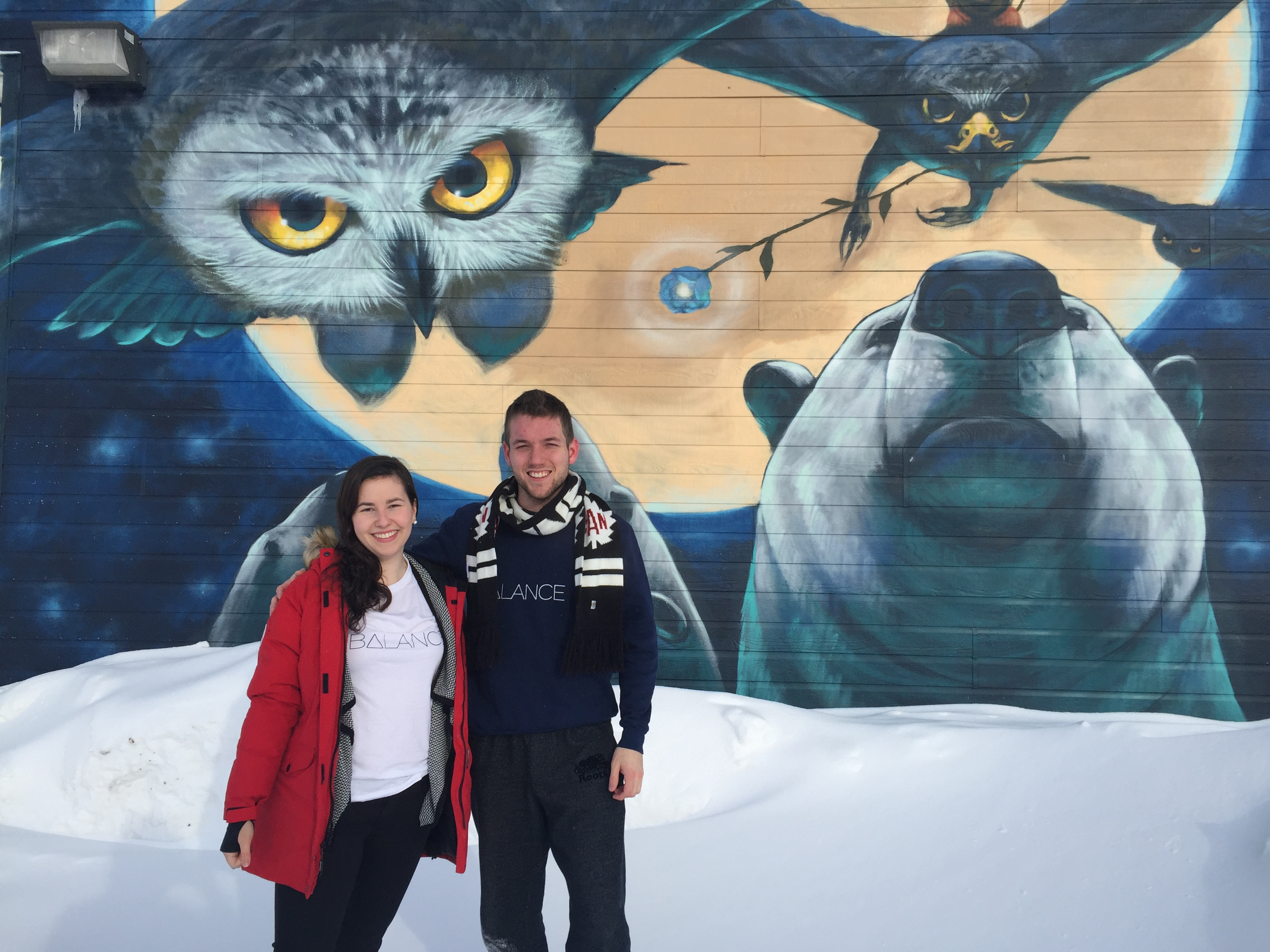 Growcer project manager Alida Burke and Enactus uOttawa president Corey Ellis in Iqaluit.