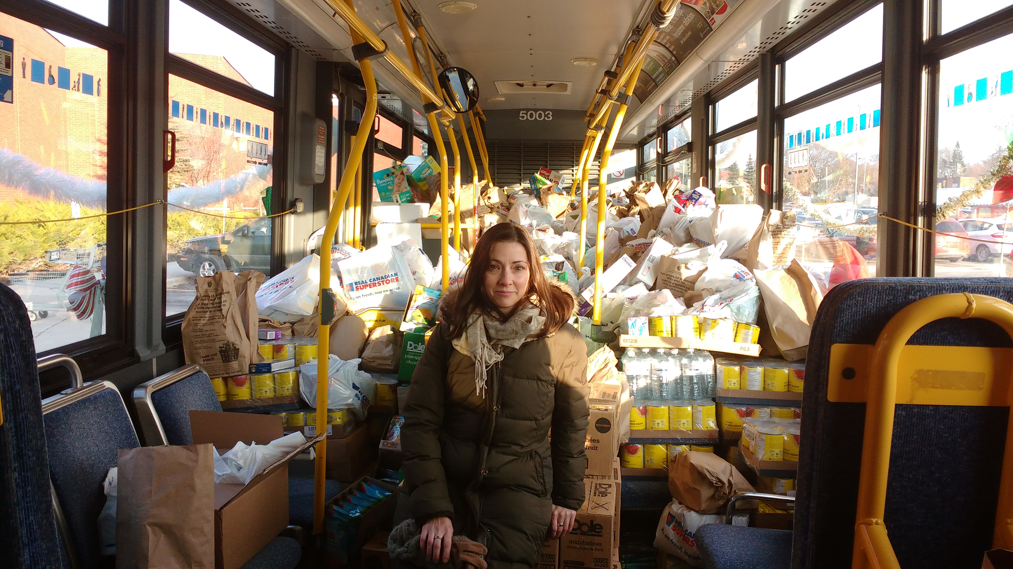 OC Transpo Annual Christmas food drive