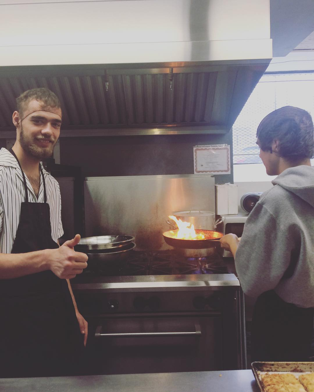 Photo of Mike working in the Food Works kitchen