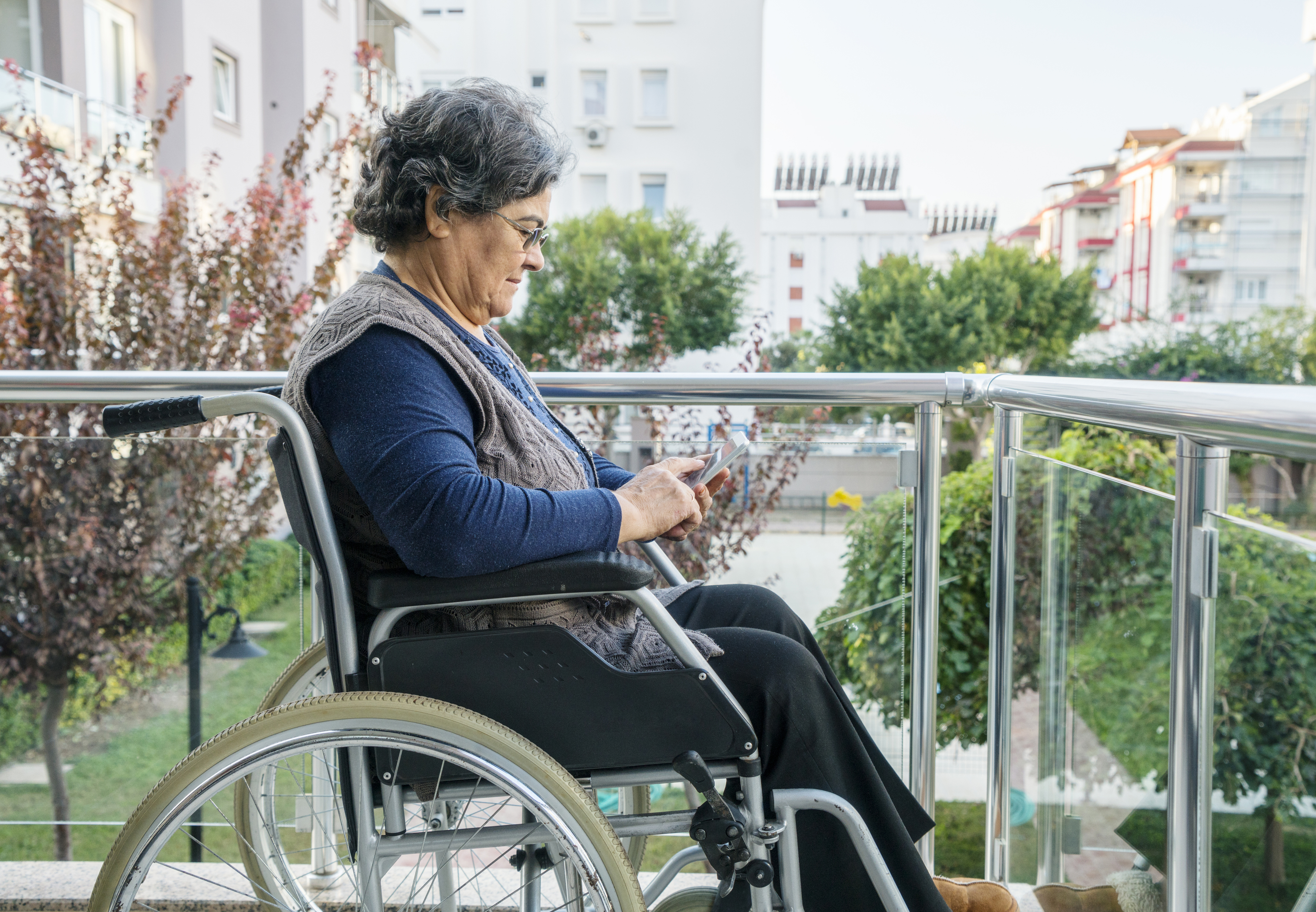 Photo of woman in wheelchair
