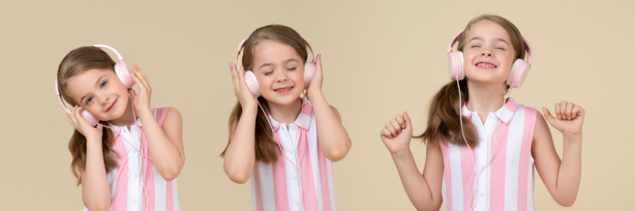 Picture of a girl listening to music