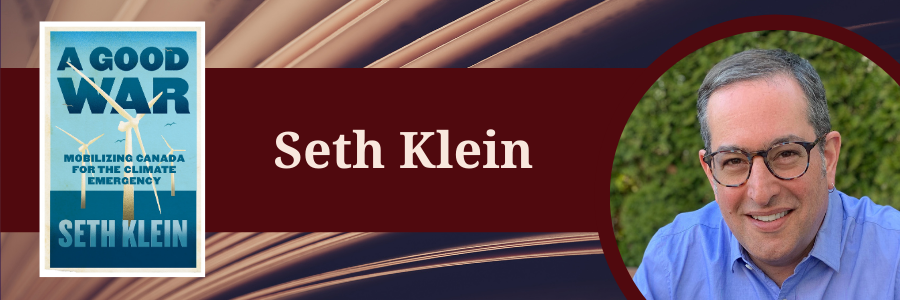 A Good War book cover and headshot of Klein