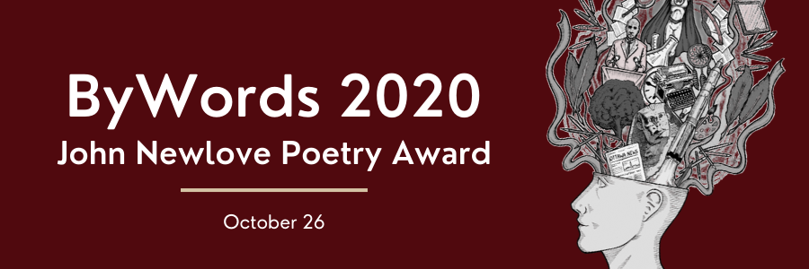 Web Banner for Bywords 2020 John Newlove Poetry Award