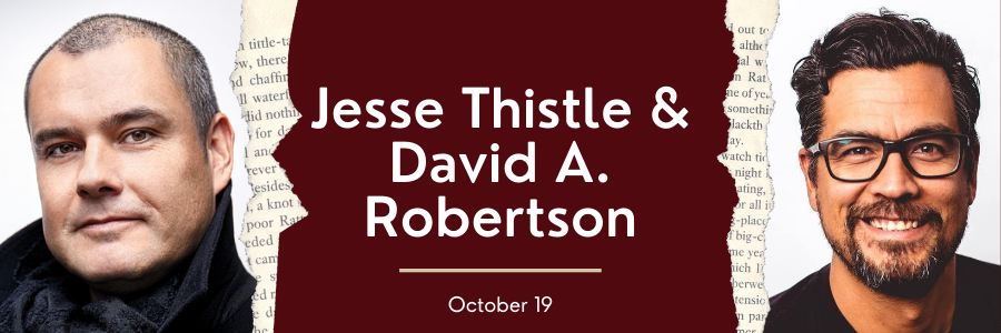Jesse Thistle and David A. Robertson Web Banner