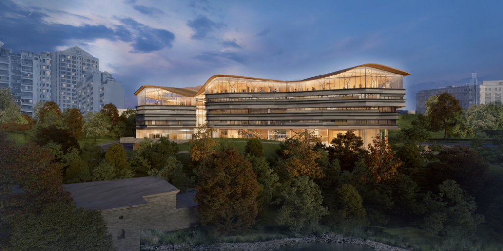 Image of rendering of future Ottawa Public Library - Library and Archives Joint Facility