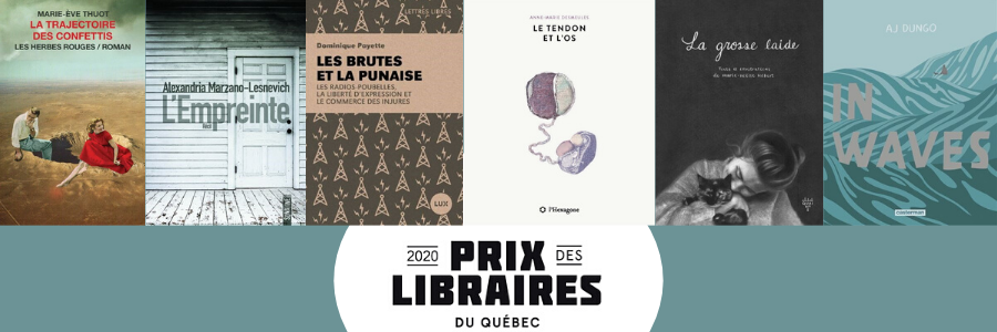 Picture of some of the book covers from the winners of the Prix des Librairies du Québec