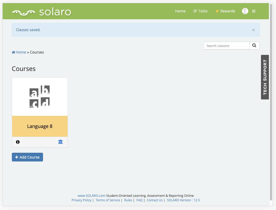 Solaro homepage