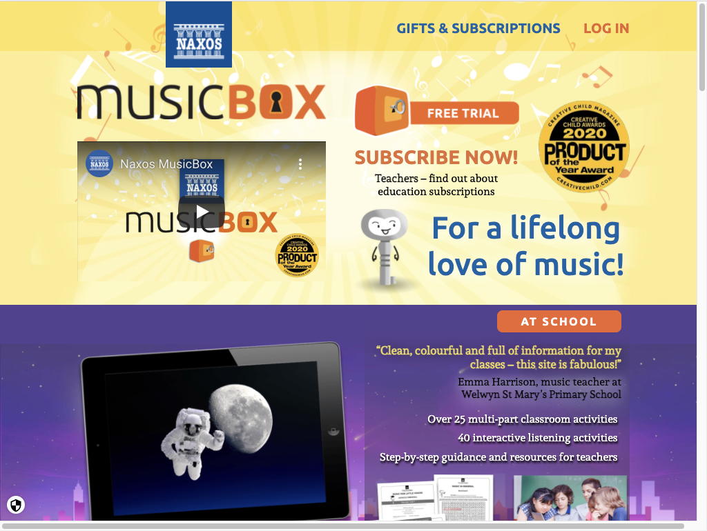 Homepage for Naxos MusicBox