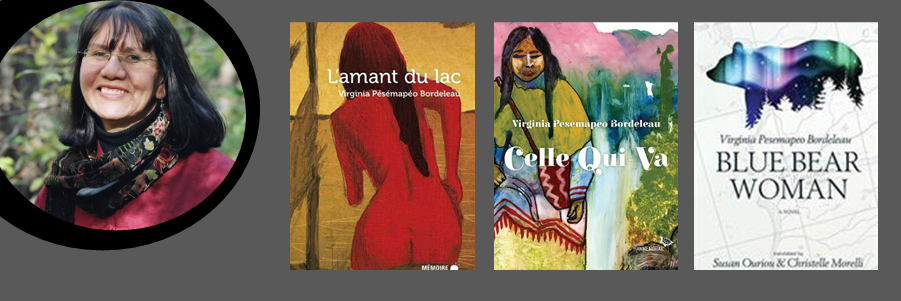Image shows the author and some of her books