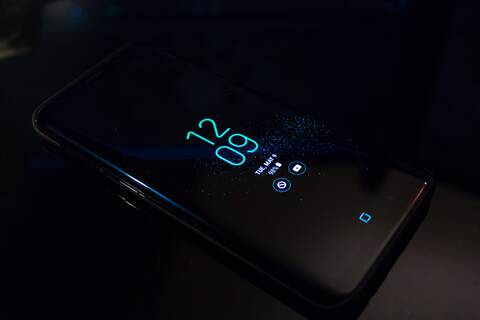 Photo of cellphone at night