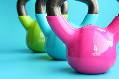 Photo of colourful weights