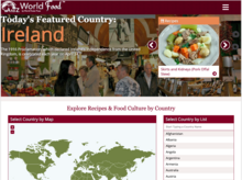 Homepage of AtoZ World Food