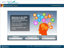 Homepage of Britannica Library