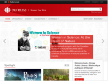 Homepage for Curio.ca