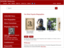 Homepage for Dictionary of Canadian Biography