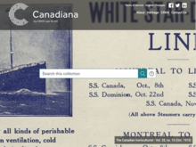 Homepage of Early Canadiana Online