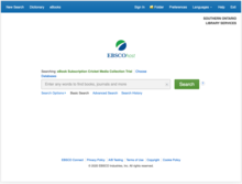 Homepage for EBSCOhost_ eBooks Cricket Media Subscription Collection