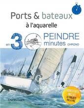 Jacket cover: Ports & bateaux à l'aquarelle