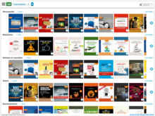 Homepage for French audiobooks: Cloud library