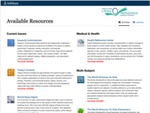 Homepage for Infobase: Home Study Resources