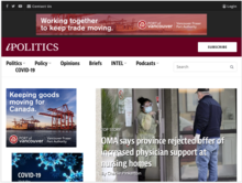 Homepage for iPolitics