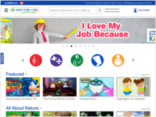 Homepage for Just for Kids
