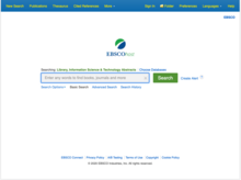 Homepage for Library, Information Science & Technology Abstracts